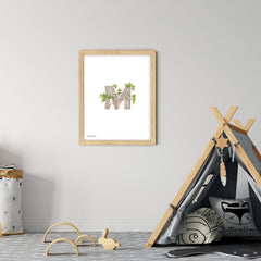 Woodland Alphabet Downloadable Print - O
