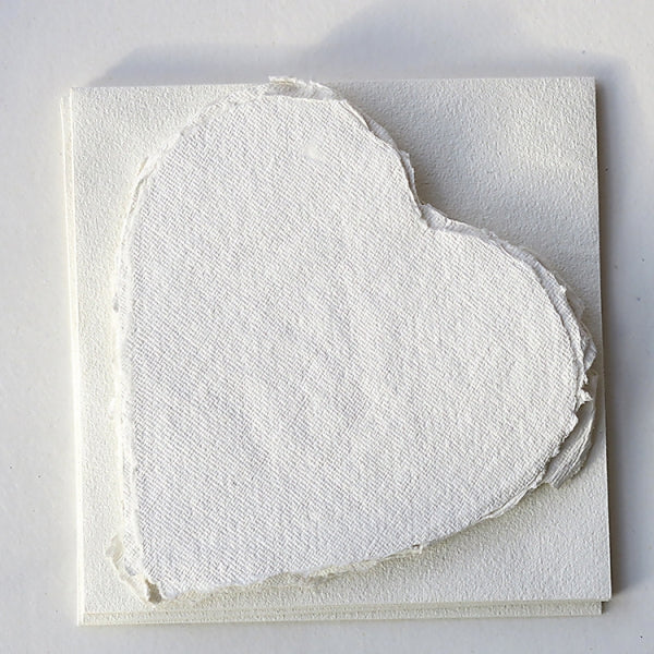Handmade Paper Hearts - Available in pink and white