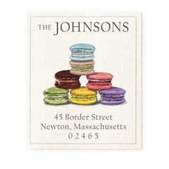 Custom Address Stickers - Macarons Display