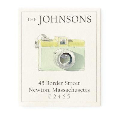 Custom Address Stickers - Retro Camera