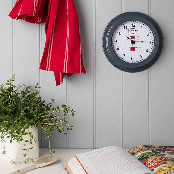Red Lighthouse Wall Clock CM4120