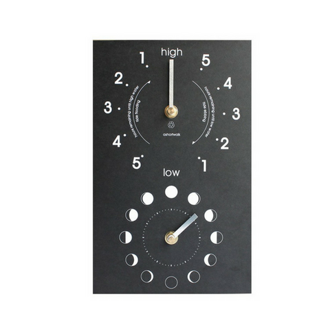 Recycled Moon & Tide Clock ASW-MTC