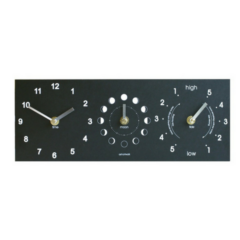 Recycled Moon, Tide & Time Clock ASW-MTT