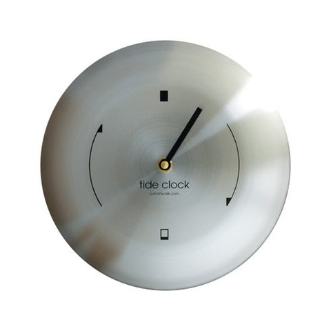 Contemporary Steel Tide Clock ASW-T-ST