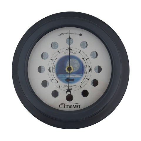 Night Fishing Moon Phase Clock CM4610