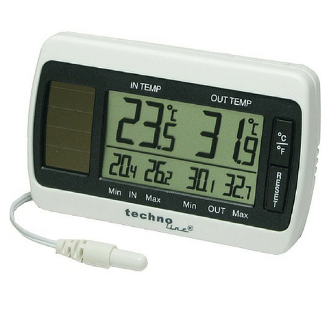 Solar Thermometer with Sensing Probe WS7008