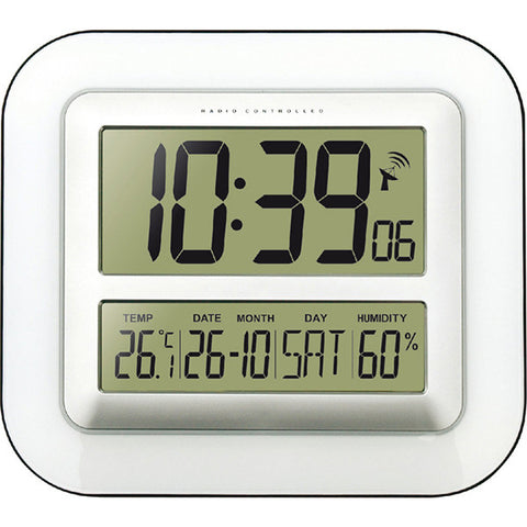 Wall Clock with Temperature & Humidity WS8006
