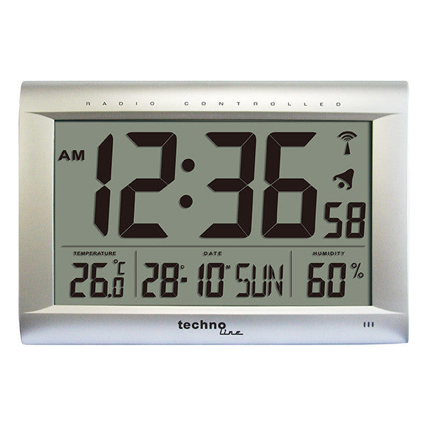 Extra large atomic wall clock ws8009 skyview - Extra large digital wall clock ...