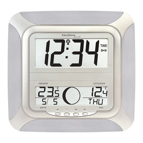 Jumbo Wall Clock with Moon Phase Display WS8118