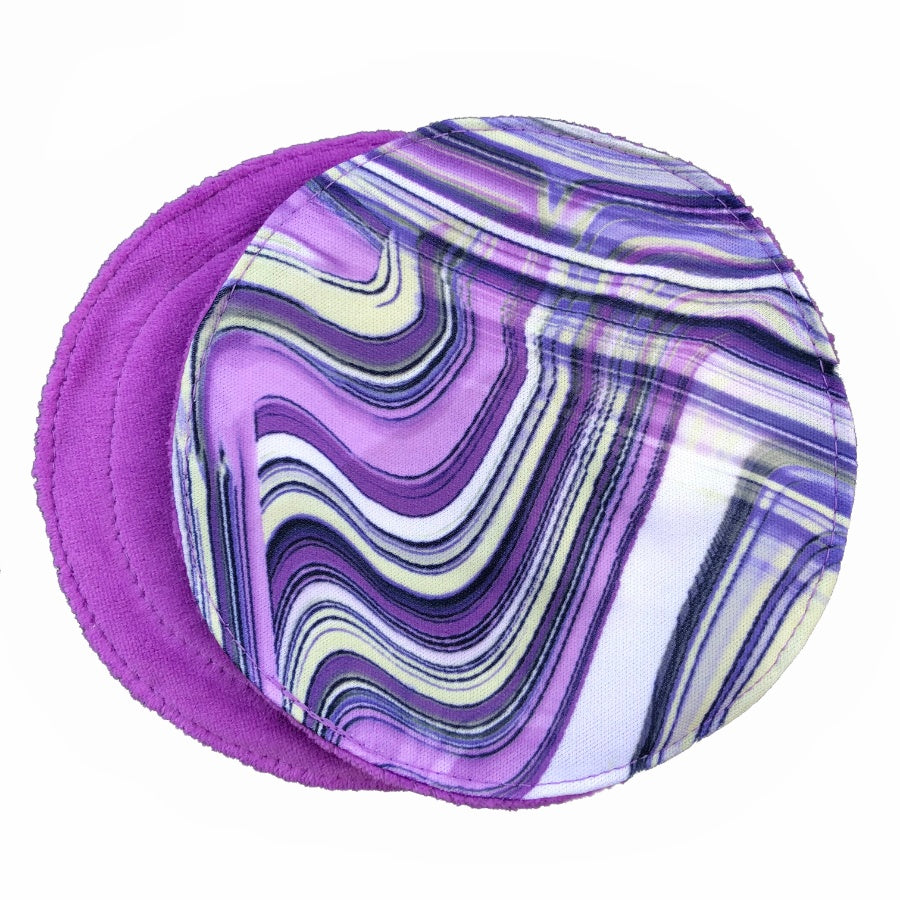 Violet Swirl Breast Pads