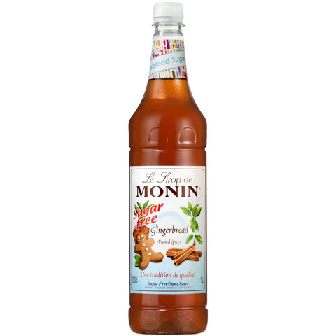 Monin Gingerbread Syrup, Sugar Free, 1L