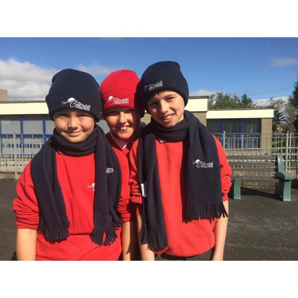 Cairnshill Primary School Knitted Hat - Classic Red