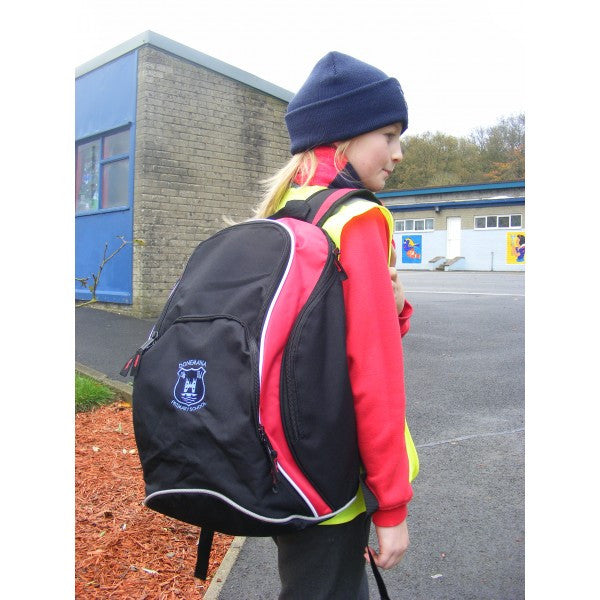 Donemana Primary School Ultimate Back Pack (Black/Red)