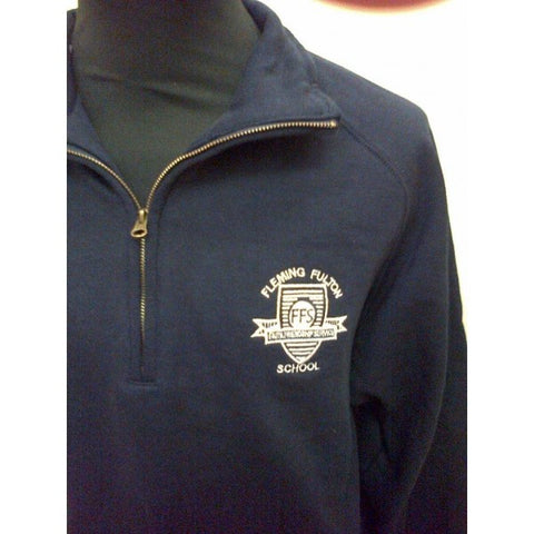 Fleming Fulton School Post 16 Zip Neck Sweat