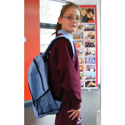 Largymore Primary School Backpack Navy/Sky