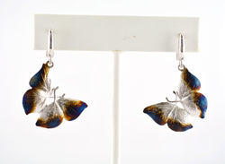 925 Sterling Silver Rhodium Plated Butterfly Earring