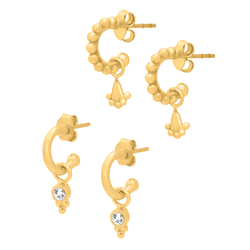 18k Gold Vermeil Bindi Huggie Set