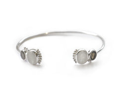 Silver Moonstone & Labradorite Bhilwara Bangle