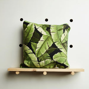 Dark Palm Leaf Cushion Cover by Desertland Wares, Hi Cacti, Brighton