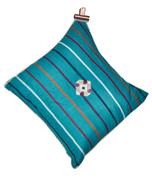 Mexican Boho Cushion- Turquoise