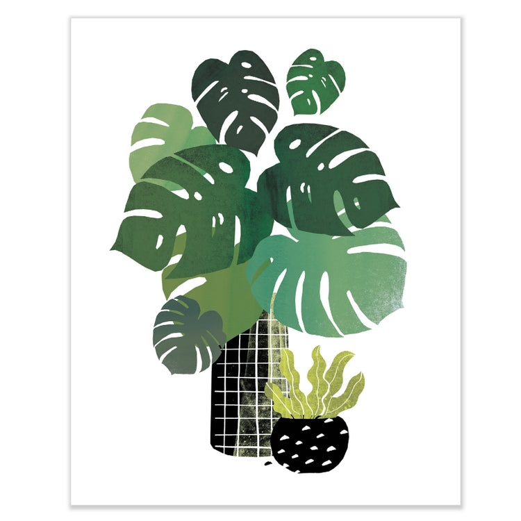 Leafy Goodness Monstera Wall Art by HelloMarine