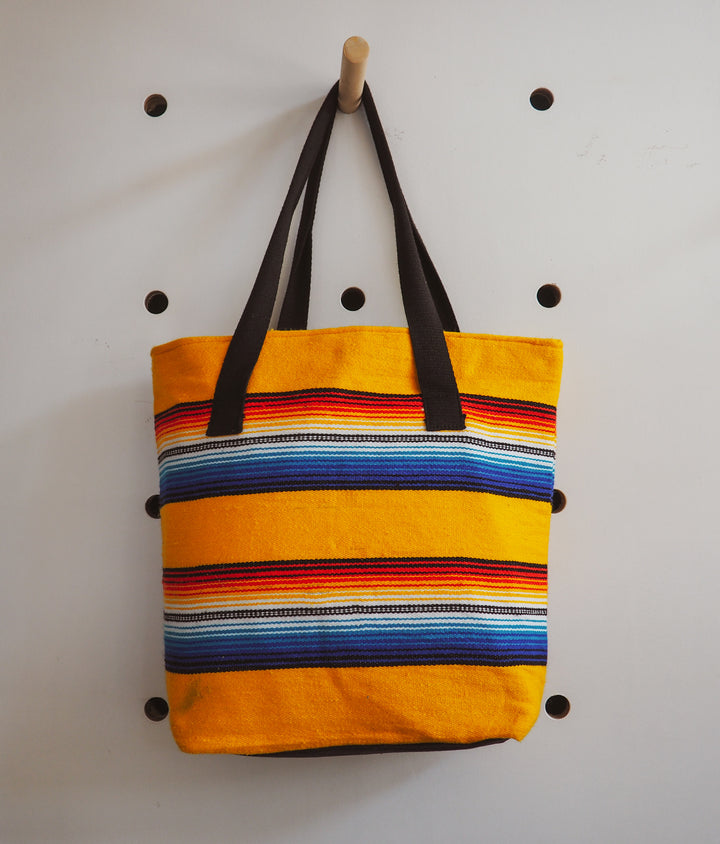 Yellow Serape Tote Bag, Hi Cacti Brighton