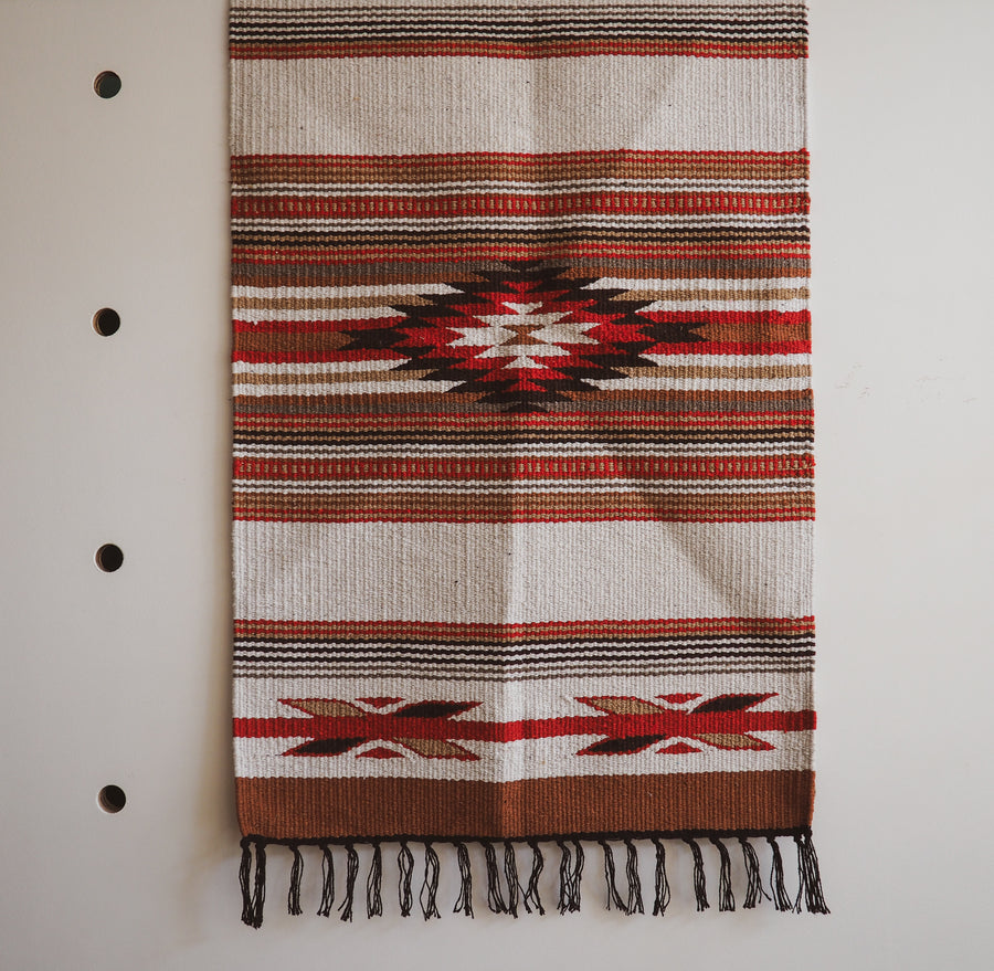 Rug Cream & Tan southwestern western rug mexican native american wild west kitchen bathroom hi cacti brighton