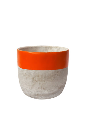 Concrete Plant Pot X-Large- Orange