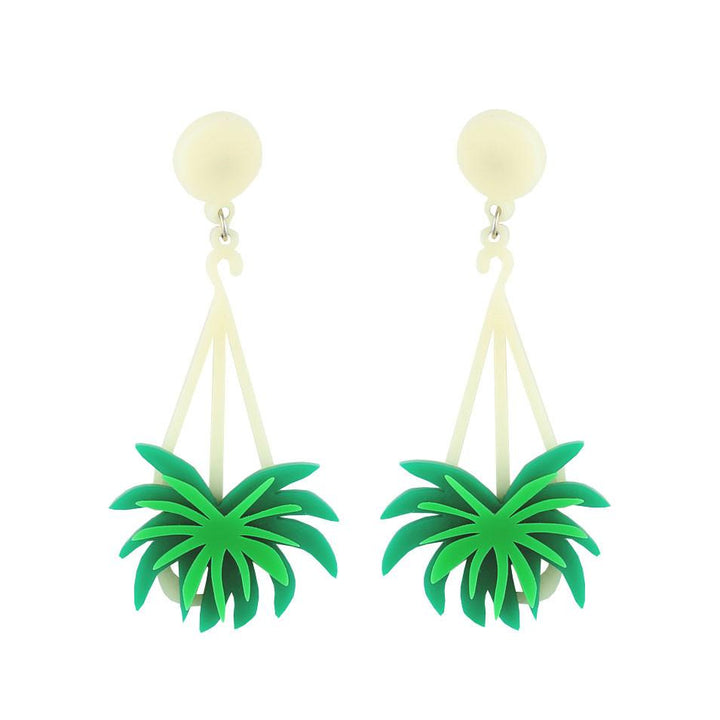 Spider Plant Earrings by Lou Taylor