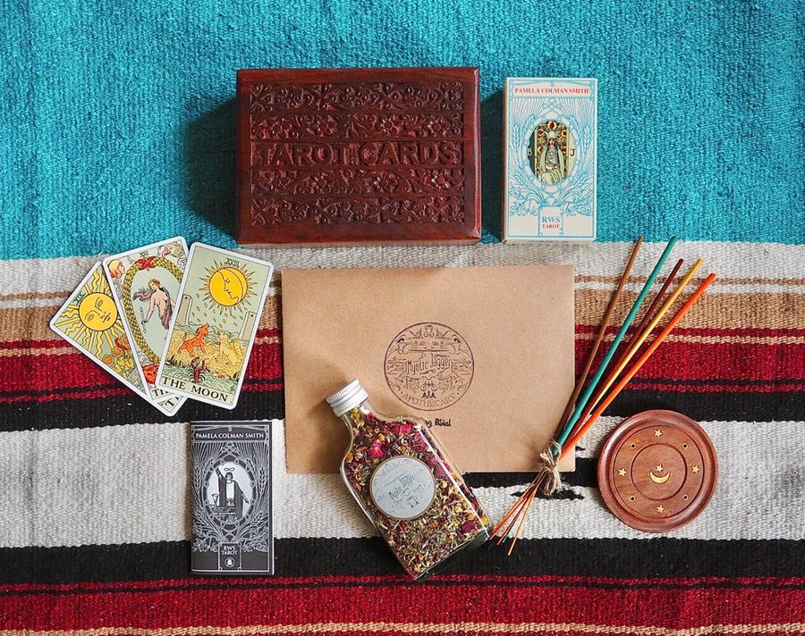 Mystical New Year Self Care Kit Hi Cacti Tarot Set & Holistics