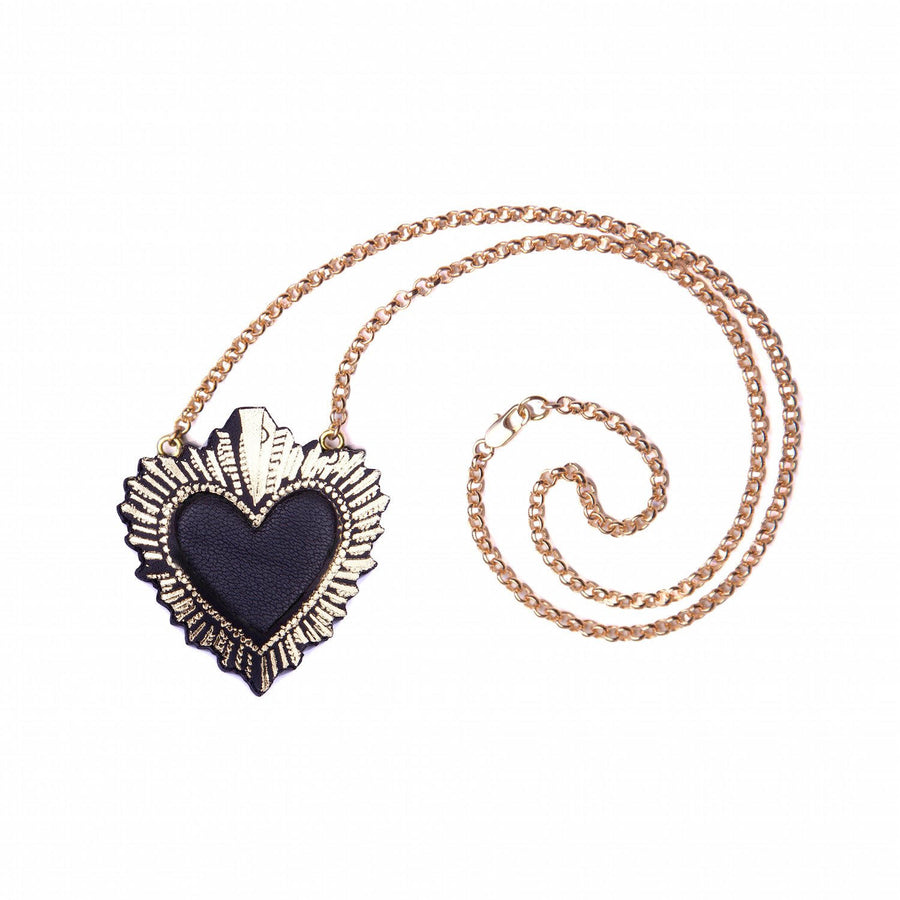 Sacred Heart Necklace by Rosita Bonita
