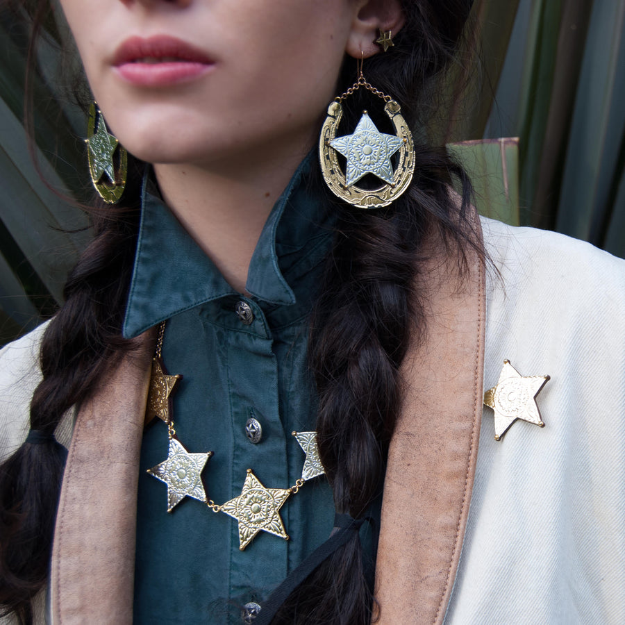 Sheriff Shield Earrings by Rosita Bonita