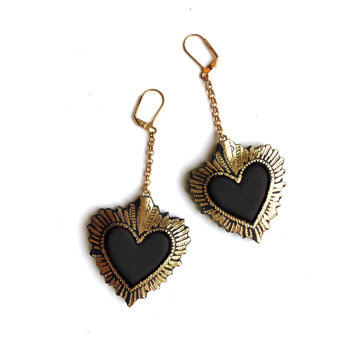 Sacred Heart Earrings by Rosita Bonita