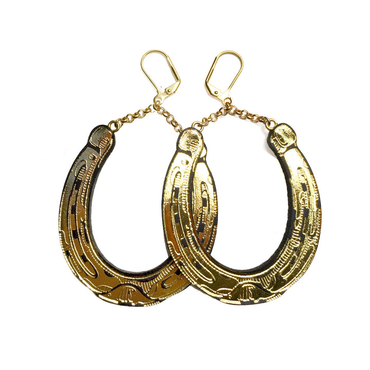 Lucky Horseshoe Earrings by Rosita Bonita