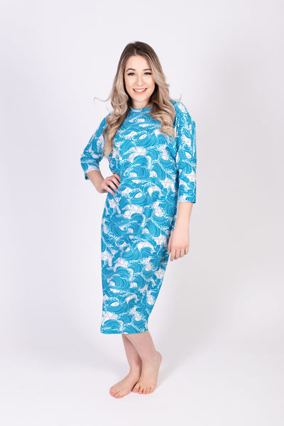 Ladies Dolman Sleeve Swim dress