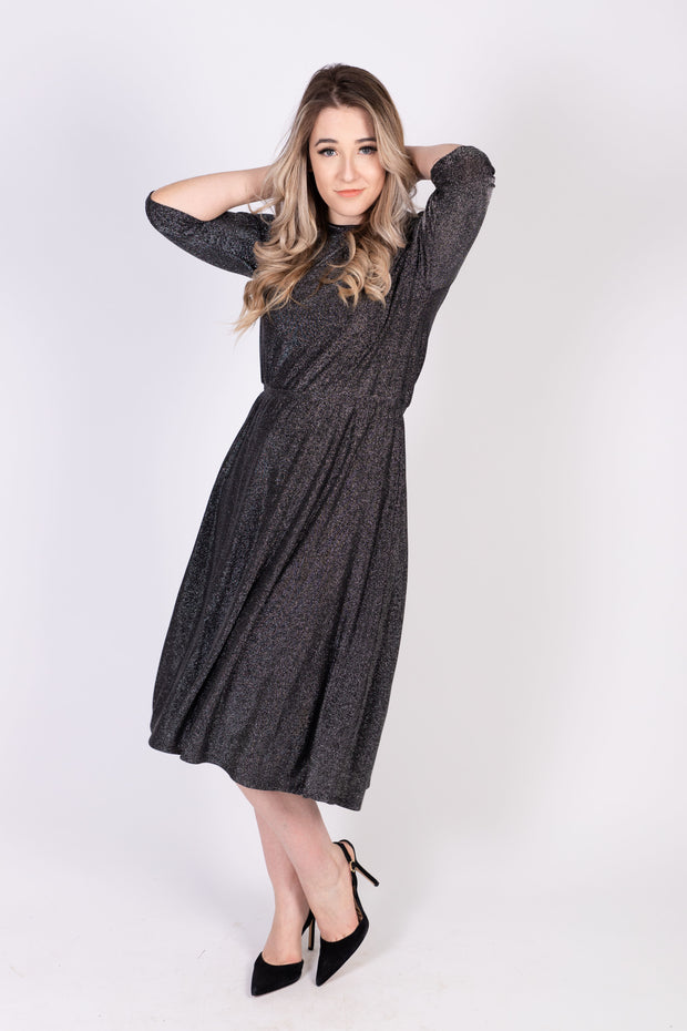 Everything Dress - BLK/SILVER