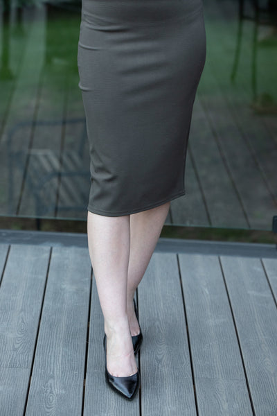 PDR Pencil Skirt Olive