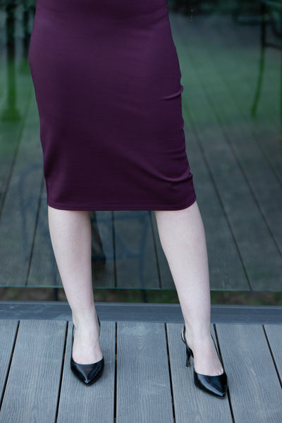 PDR Pencil Skirt Wine