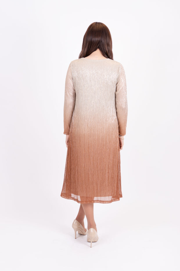KMW Ombre Pleated Tunic Dress