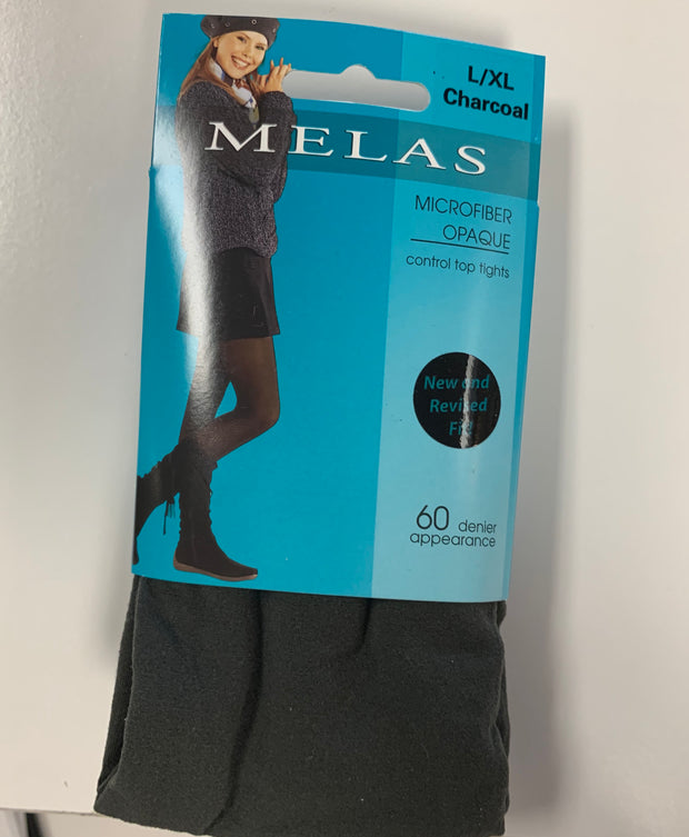Melas Opaque Tights Charcoal