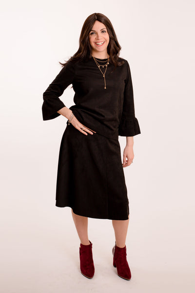 KMW Suede Bell Sleeve Tunic
