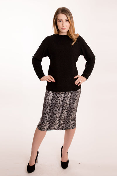KMW Patterned Pencil Skirt