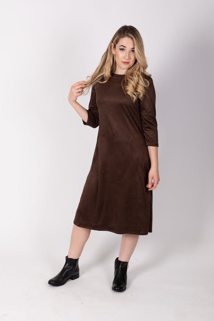 KMW A line Suede Dress *XSMALL & MEDIUM ONLY*