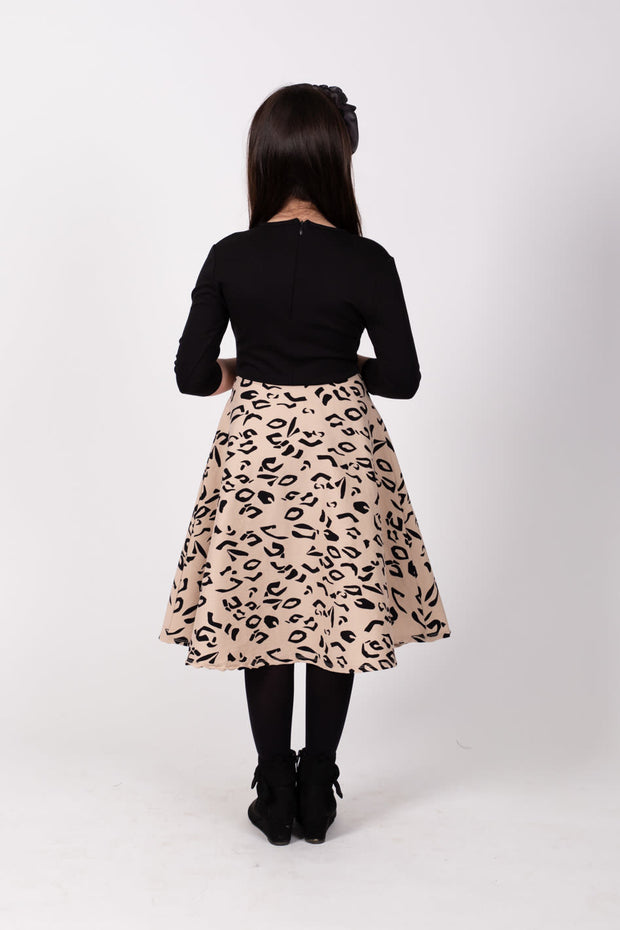 Girls Skater Dress - Animal Print