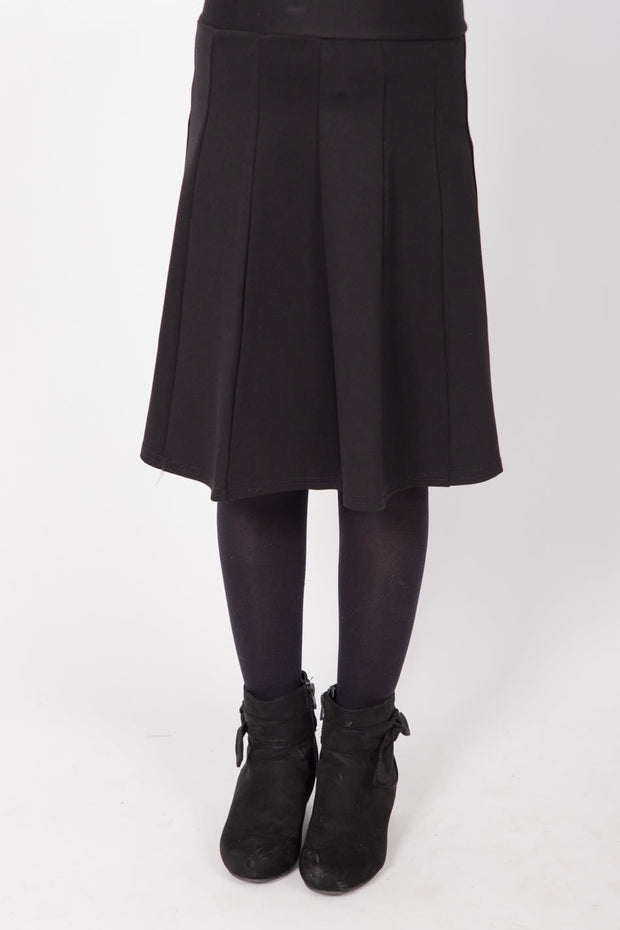 KMW Girls Panel Skirt - Black