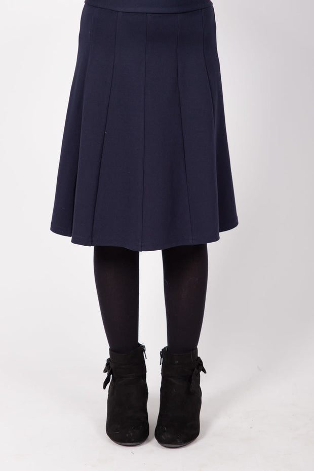 KMW Girls Panel Skirt - Navy