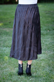 Crimped Satin Skirt