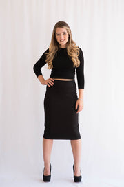 KMW Modal Pencil Skirt - Black