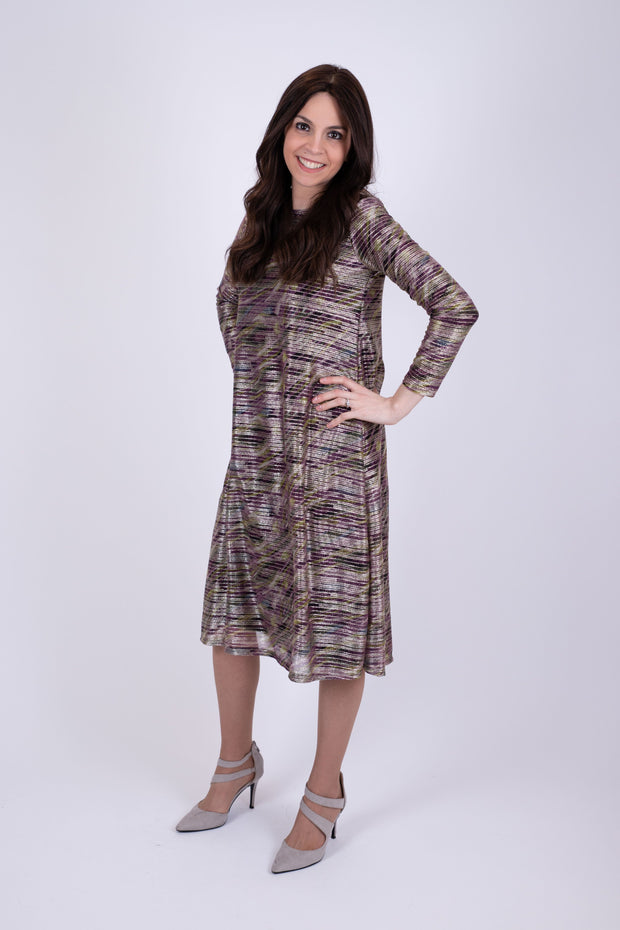 KMW Metallic Tunic Dress