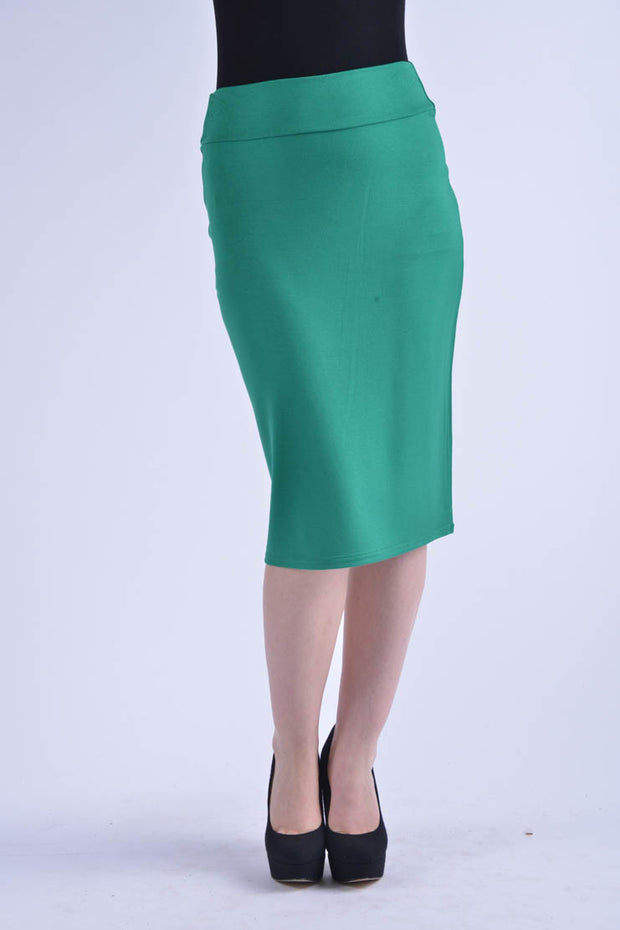 KMW Modal Pencil Skirt- Green
